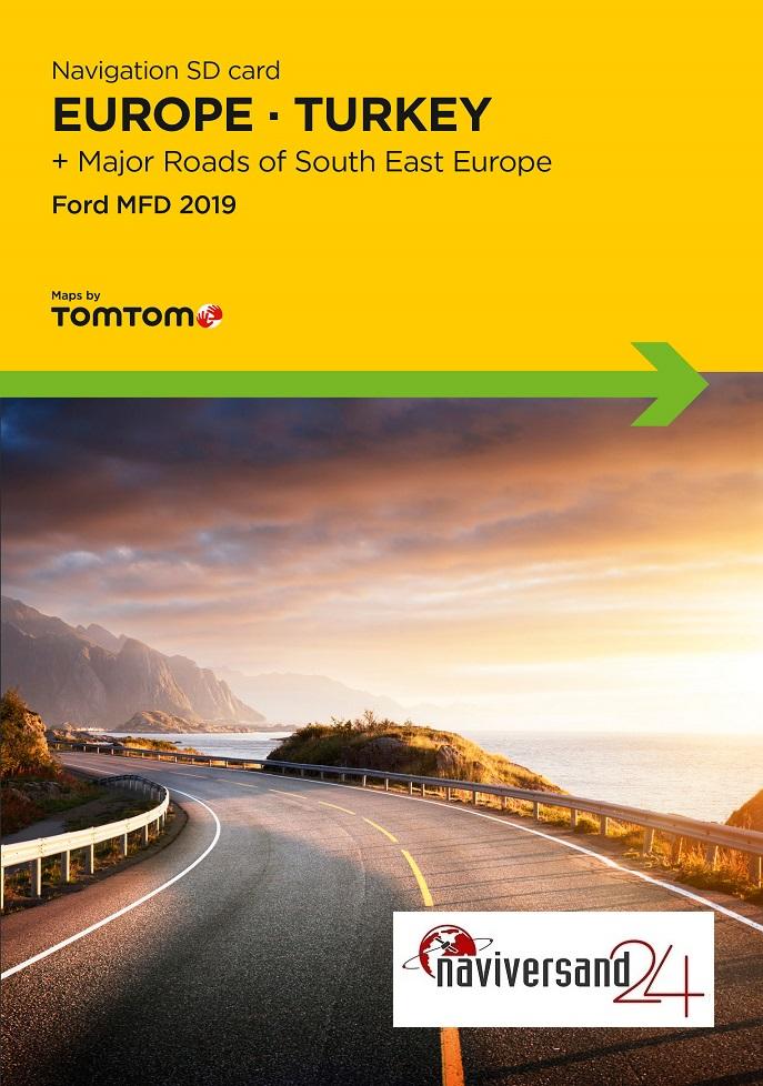 Ford MFD 2019 SD-Karte Europa + Türkei + Hauptverbindungsstraßen